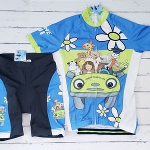 Cheji Youth Cycling Biking Jersey Shorts Set